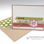 Bah Humbug!  Stampin' Up! Very Merry Tags Card