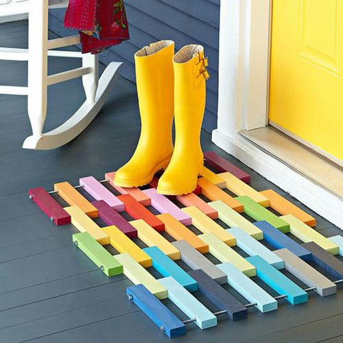 Colorful-welcome-mat-for-home