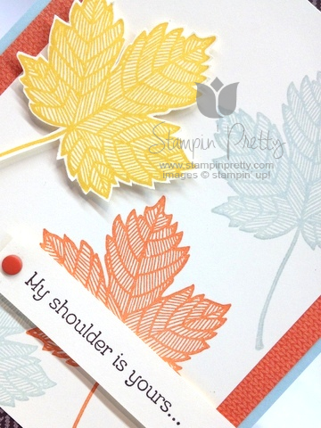 Stampin up stampinup pretty it  mary fish maple leaf fall handmade card ideas sweater weather