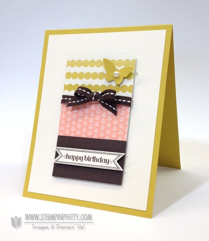 Stampin up stampinup pretty stamp it bitty banners itty framelits dies birthday card ideas