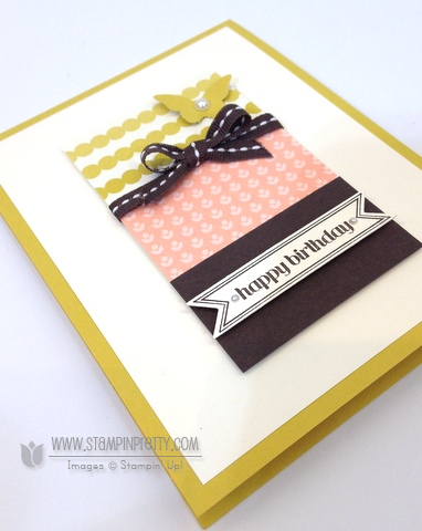 Stampin up stampinup itty bitty banners framelits dies birthday cards idea order online stamp it pretty mary fish