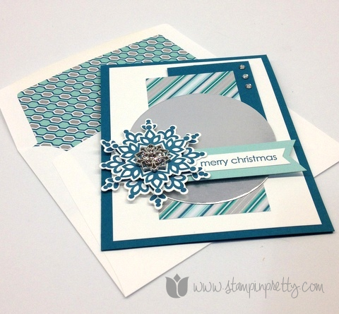Stampin up mary fish stamp it pretty orders holiday festive flurry framelits die christmas card idea