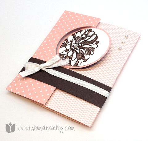 Stampin up mary fish stamp it pretty order thinlits thinlets cards die gift card holder idea