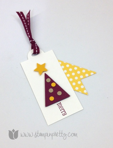 Stampin up mary fish stamp it pretty order holiday christmas tag petite pennant builder punch parade