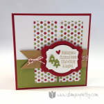Christmas Messages Holiday Card Using Sale Products!