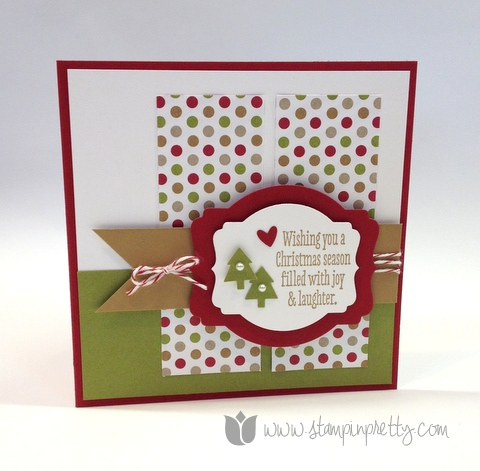 Stampin up mary fish pretty stamp it christmas messages holiday card idea deco labels framelits big shots