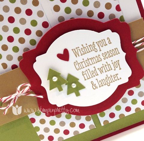 Christmas messages holiday card using sale products stampin pretty stampin up mary fish pretty stamp it christmas messages holiday card idea deco label framelits big m4hsunfo