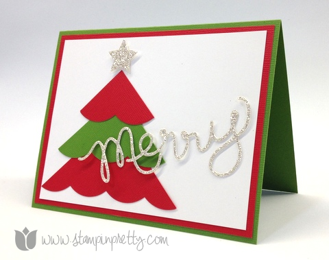 Stampin up mary fish pretty stamp it thinlits expressions dies big shot holiday christmas trees card idea