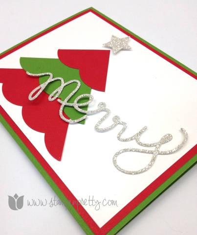 Stampin up mary fish pretty stamp it thinlits expressions die big shot holiday christmas tree card idea