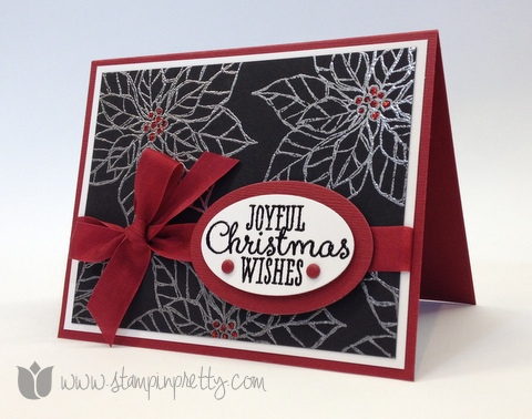 Stampin up stampinup pretty mary fish order online joyful christmas holiday card idea poinsettia