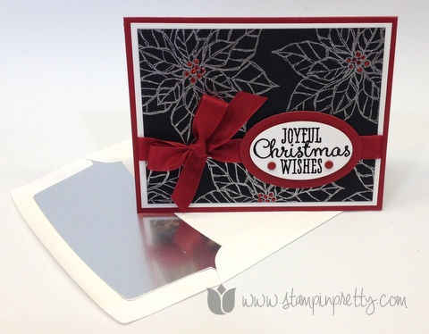 Stampin up stampinup pretty mary fish orders online joyful christmas holiday card idea poinsettia