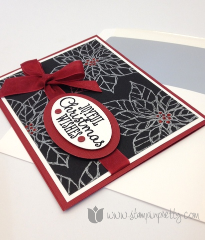 Stampin up stampinup pretty mary fish order online joyful christmas holiday card ideas poinsettia