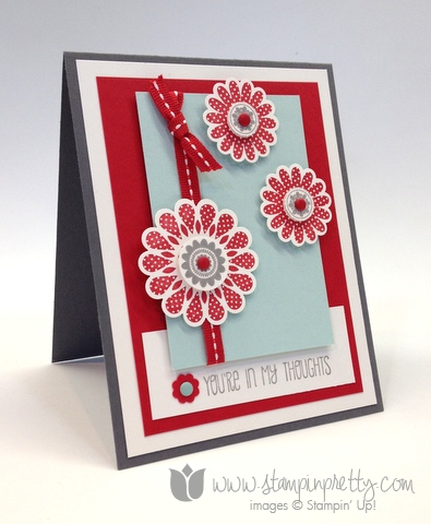 Stampin up stamp it pretty order online a dozen thoughts polka dot pieces card ideas