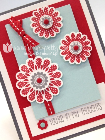 Stampin up stamp it pretty order online a dozen thought polka dot pieces card idea punch