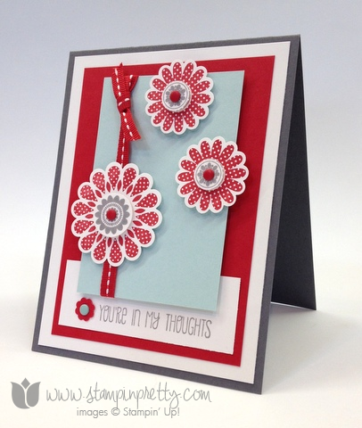 Stampin up stamp it pretty order online a dozen thoughts polka dot pieces card idea punch