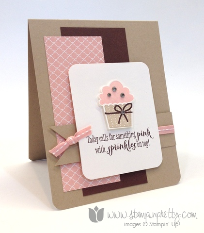 Stampin up create a cupcake builder punch remembering your birthday girl ideas mary fish pretty card