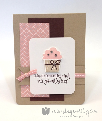 Stampin up create a cupcake builder punch remembering your birthday girls ideas mary fish pretty card
