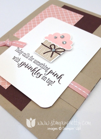 Stampin up create a cupcake builders punch remembering your birthday girl ideas mary fish pretty card