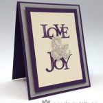 Simple Love & Joy Stampin' Up! Card