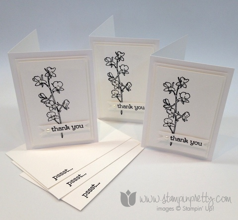 Stampin up stamp it pretty mary fish watercolor wonder note card ideas thank you