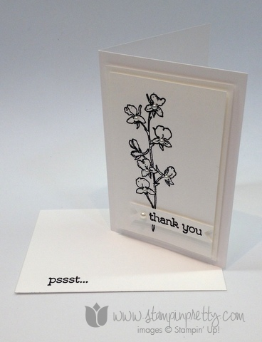 Stampin up stamp it pretty mary fish watercolor wonder note card idea thank you