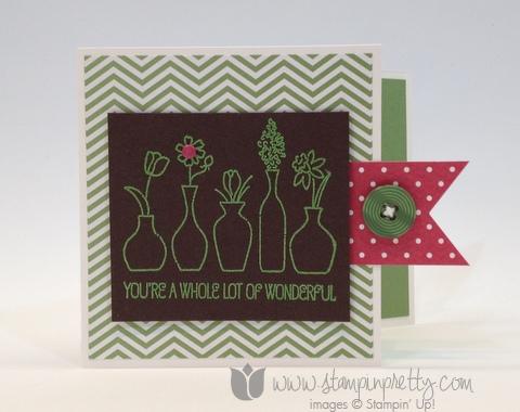 Stampin up stamp it up mary fish stampin pretty vivid vases card diy making ideas occasions catalog free
