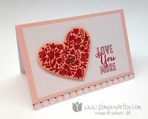 Stampin up pretty order mary fish valentine days simple card idea whole lot of love flowerfull you more