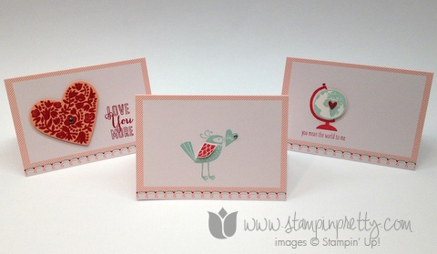 Stampin up pretty orders mary fish valentine day simple card idea whole lot of love flowerfull you more