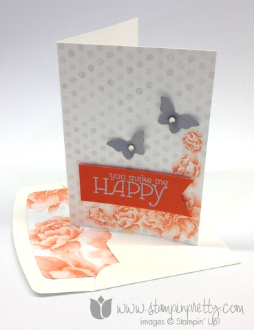 Stampin up stampinup happy watercolor wonder note card butterfly punch card ideas pretty stamps it mary fish