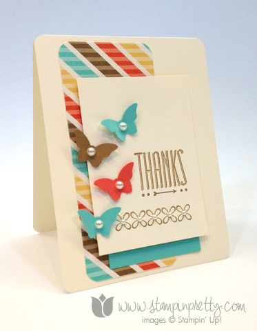 Stampin up mary fish order stamp it pretty hip note youre lovely saleabration free catalog thank you handmade card