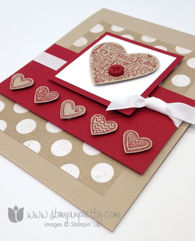 Stampin up stamps it up free occasions catalog language of love handmade card diy pretty valentine day