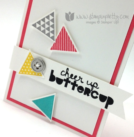 Stampin up stamp it stamping order geometrical triangle punch handmade card diy idea