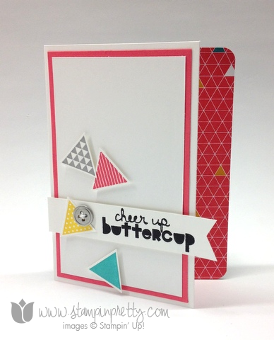 Stampin up stamp it stamping order geometrical triangles punch handmade card diy idea