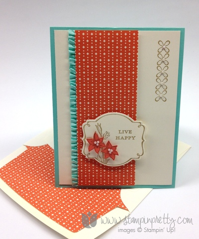 Stampin up stamping stamp it youre lovely saleabration envelope liner framelits dies handmade card diy ideas