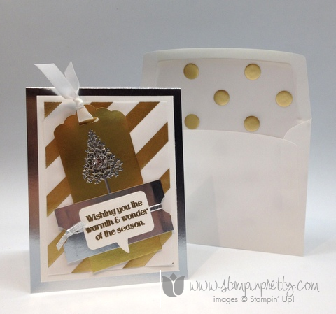 Stampin up pretty stamp it pretty holiday card bookmark ideas punch warmth and & wonder scallop scalloped tags topper
