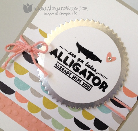 Stampin up stamp it pretty mary fish saleabration see you later alligators handmade card idea