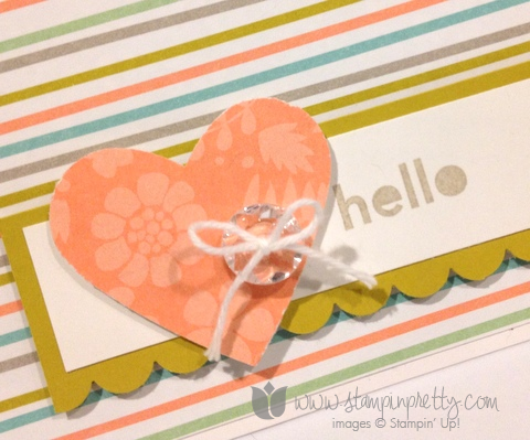 Stampin up stamp it pretty mary fish saleabration sweet sorbet thanks & hello handmade cards idea