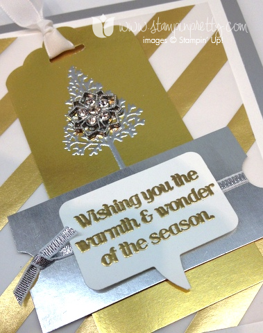 Stampin up pretty stamp it pretty holiday card bookmarks idea punch warmth and & wonder scallop scalloped tag topper