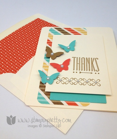 Stampin up mary fish order stamps it pretty hip note youre lovely saleabration free catalog thank you handmade card