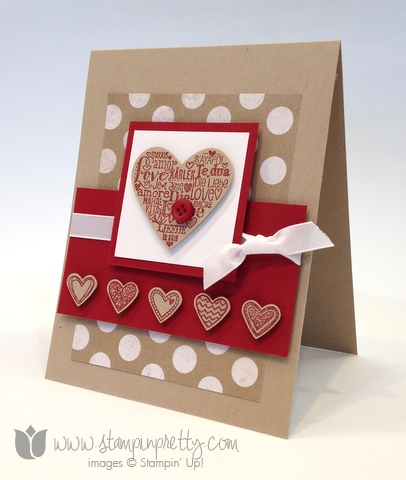 Stampin up stamp it up free occasions catalog language of love handmade card diy pretty valentine day