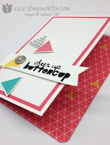 Stampin up stamp it stamping order geometrical triangle punch handmade card diy ideas