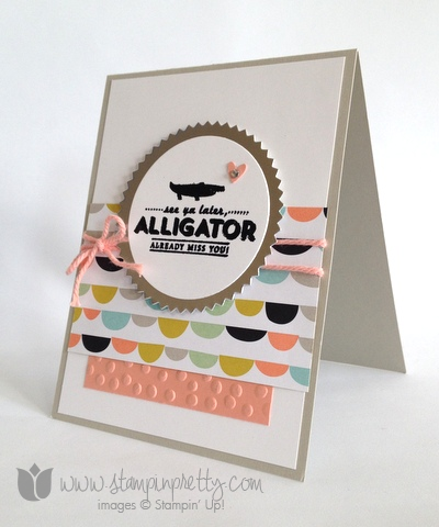 Stampin up stamp it pretty mary fish saleabration see you later alligator handmade card idea