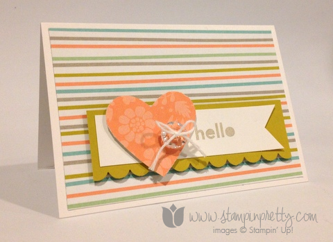 Stampin up stamp it pretty mary fish saleabration sweet sorbet thanks & hello handmade card ideas
