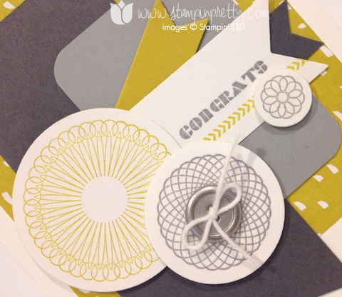 Stampin up stamp it pretty spiral spins handmade congrats congratulations cards sweet sorbet envelope framelits die
