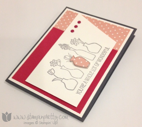 Stampin up stamp it pretty mary fish vivid vases handmade card ideas free occasions catalog