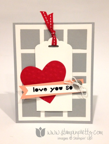 Stampin up stamp it pretty mary fish valentine day card ideas geometric tag topper punch scalloped scallop