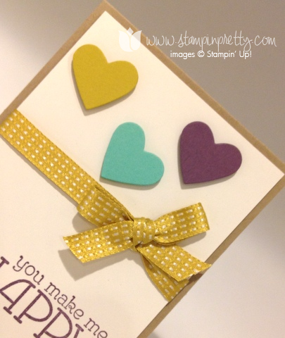 Stampin up stamp it pretty stamping happy watercolor heart framelits big shot machine dies envelope liner order