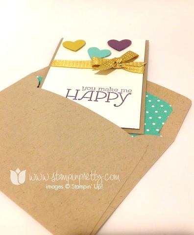 Stampin up stamp it pretty stamping happy watercolor heart framelits big shot machine die envelope liner order