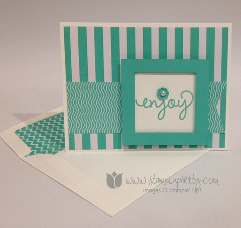 Stampin up stamp it pretty mary fish fresh prints simple celebrate handmade card ideas