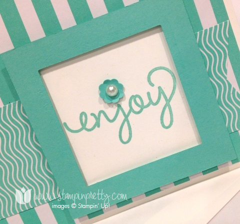 Stampin up stamp it pretty mary fish fresh prints simple celebrate handmade card idea